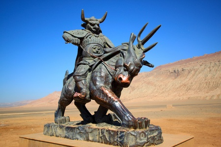 Bull demon bronze statue at Flaming mountain