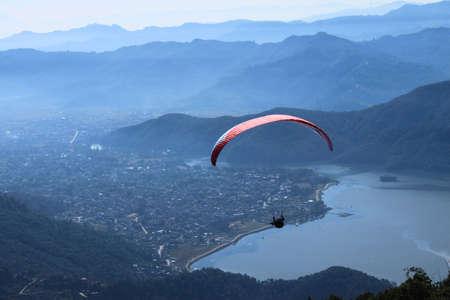 adventurous: Paragliding in Nepal, an adventurous sport