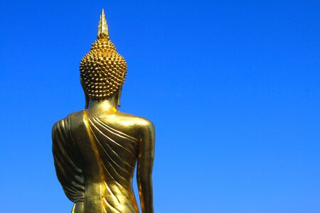 The Buddha Statue at Wat Phra That Khao Noi, Nan photo