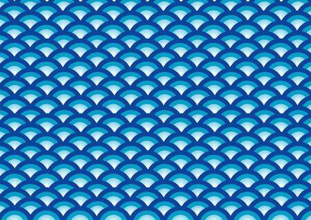 multilayer: Antecedentes de la onda azul en varias capas curva