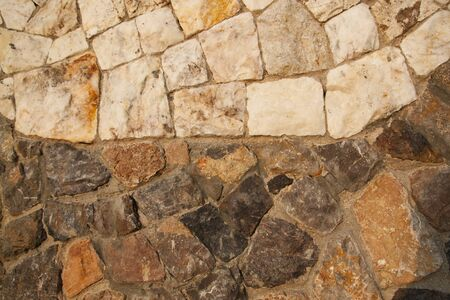 two tone: Background of stone wall with two tone color