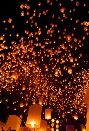 Yee Peng, Lanna ceremony in Loy kratong festival of Thailand photo