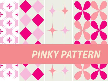 pinky: Four Pinky patterns Illustration