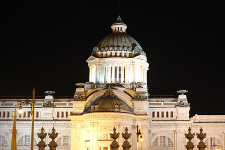 historica: Ananta Samakom Throne Hall at night