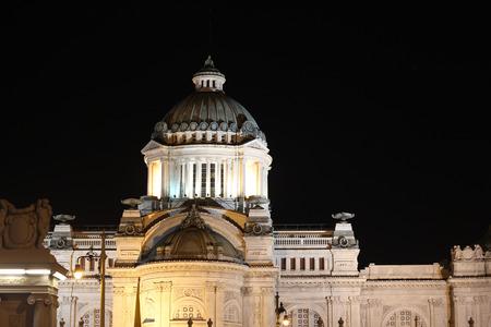 historica: Ananta Samakom Throne Hall at night