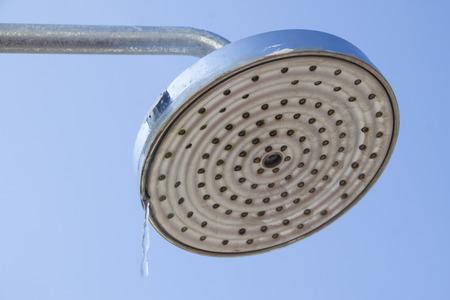 Shower head in the outdoor scene Stock Photo