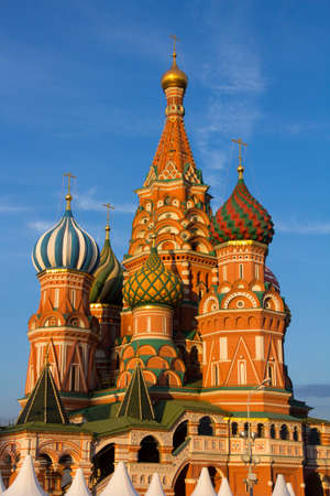 St. Basils Cathedral at red square, Moscow, Russia photo