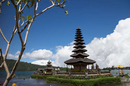 danu: Pura Ulun Danu Bratan in the lake, Bali, Indonesia