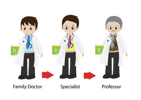young male doctor: Male doctor from young physician to professor