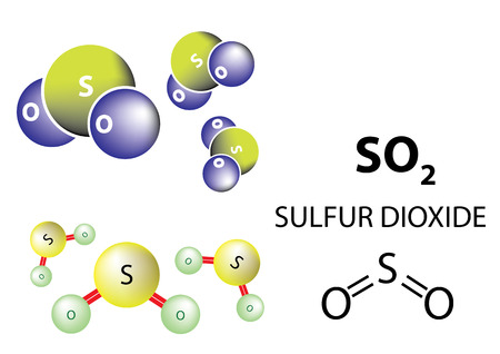 SO2, Surfur dioxide is a toxic gas