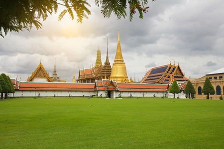 sien: Templo del Buda de Esmeralda (Wat Phra Kaew), Tailandia Foto de archivo