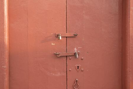 master: Master key on the wooden door, vintage Stock Photo