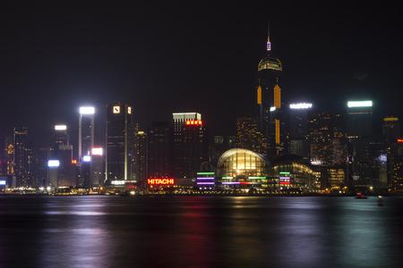 Hongkong Convention center at night , January 2016,   Hongkong Editorial