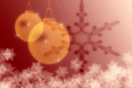 snowflakes and christmas lights