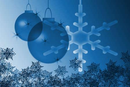 colds: snowflakes and christmas lights