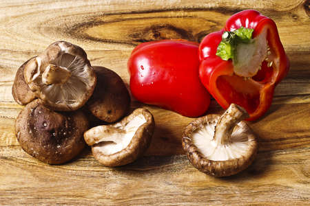 Shiitake mushroom and red pepper