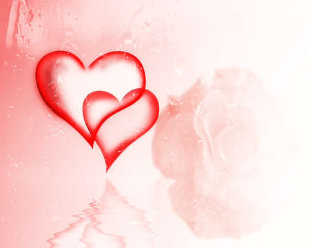Tow Hearts For Valentine Stock Photo