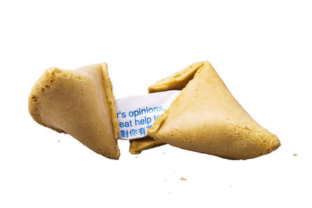 cracked fortune cookie photo