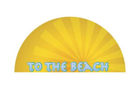 sunset on the beach vector illustration