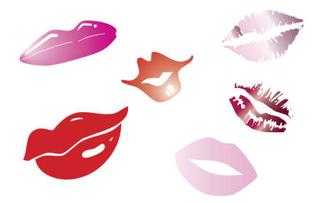 Retro Lips Set Stock Vector - 17593535