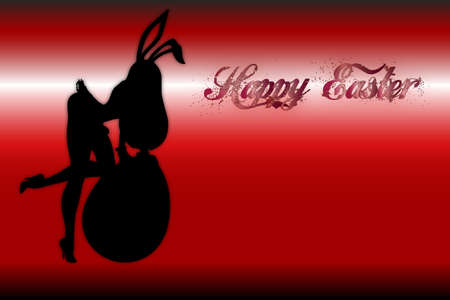 lapin sexy: silhouette de femme sexy habillée en lapin