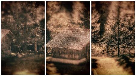 triptych: Triptych Autumn Landscape photography Stock Photo