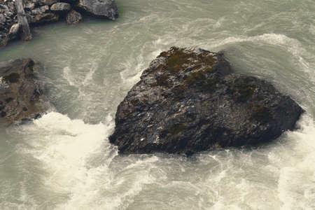schweiz: Aareschlucht a Heart in Water Stock Photo