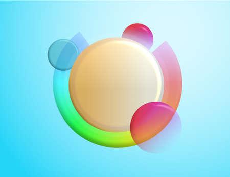 Coloured Background of multiple spheres illustration