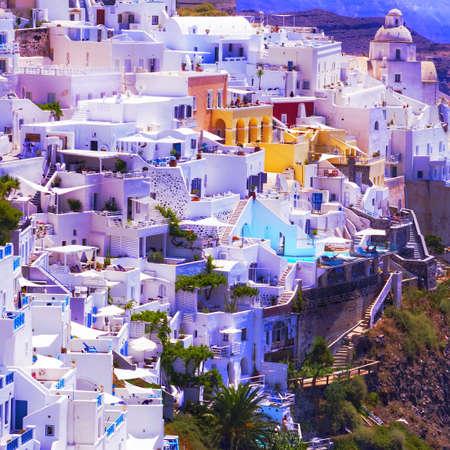fira: Fira Santorini Stock Photo