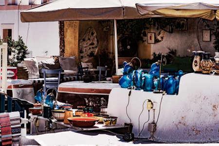 oia: Souvenirs shop in Oia Town in Santorini Stock Photo