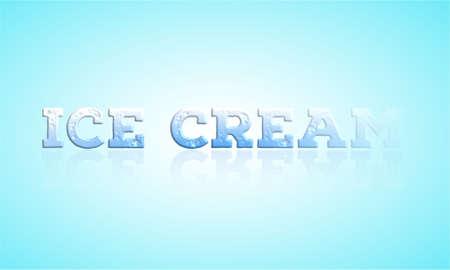 Retro ice cream poster. Vector illustration.