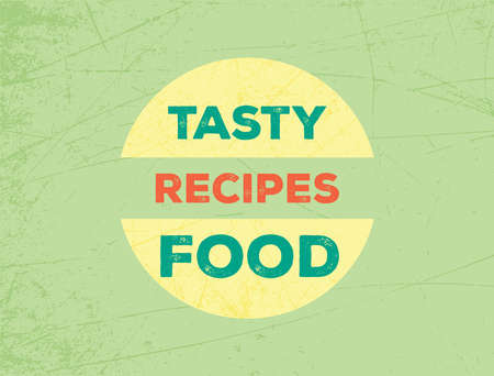 vintage and colorful illustration of Tasty Food Icon