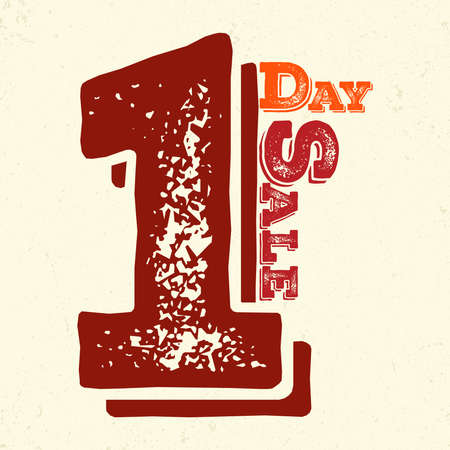 Banner one day sale with Grungy Look