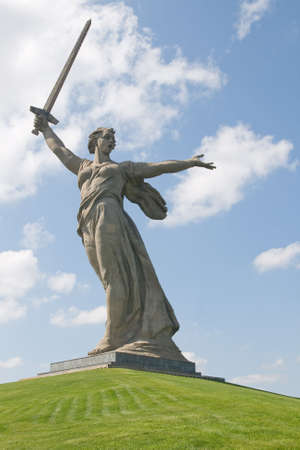 Monument Motherland calls by Vuchetich in Volgograd, Russia Stock Photo
