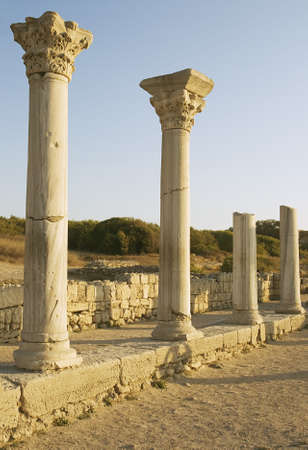 Ancient columns of basilica in Chersonesos Taurica, Crimea, Ukraine Stock Photo - 7202104