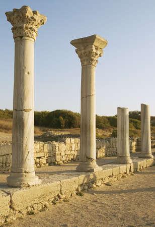 Ancient columns of basilica in Chersonesos Taurica, Crimea, Ukraine Stock Photo - 7202104