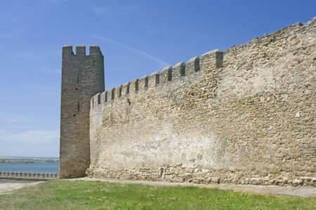 fortified wall: Medieval Akkerman fortress near Odessa in Ukraine  Stock Photo