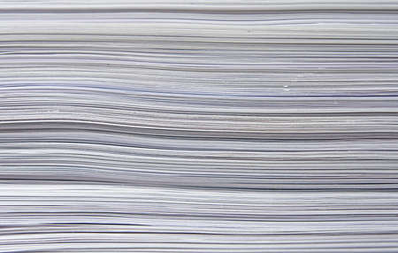 Close-up of a big stack of paper, background