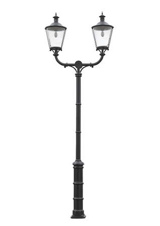 An isolated photo of an old street lamppost Stock Photo - 12640342