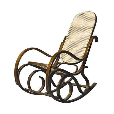 Superb Bruin Rieten Stoel Geisoleerd Over Witte Achtergrond Royalty Pabps2019 Chair Design Images Pabps2019Com