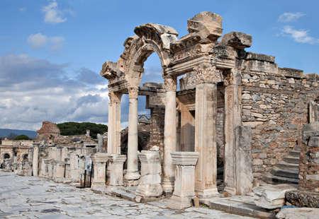 hadrian: El templo de Adriano, antigua ciudad de �feso, Turqu�a Foto de archivo