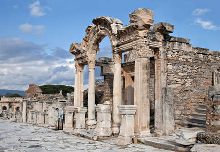 hadrian: The temple of Hadrian, ancient town of Ephesus, Turkey