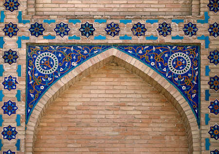壁、ウズベキスタンで華やかなウィンドウのニッチ 写真素材