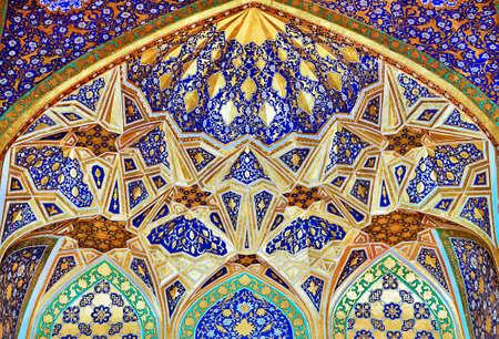 SAMARKAND, UZBEKISTAN - MAY 04, 2014: Interior of Tilya-Kori Madrasah