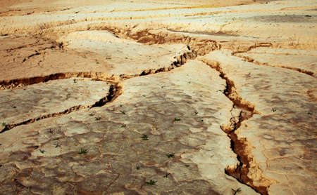 Close-up of earth cracked because of drought