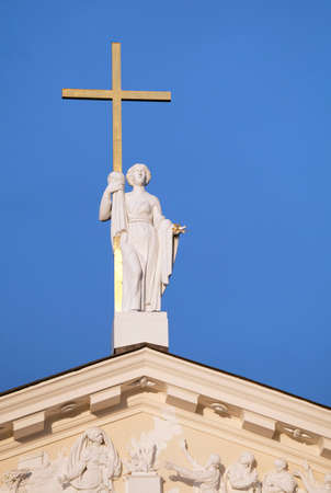 Statue of St. Helen on St. Stanislaus and St Ladislaus cathedral in Vilnius