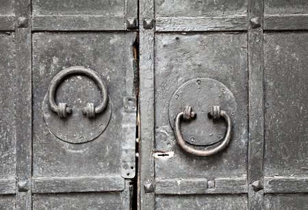 Ring-shaped door knockers