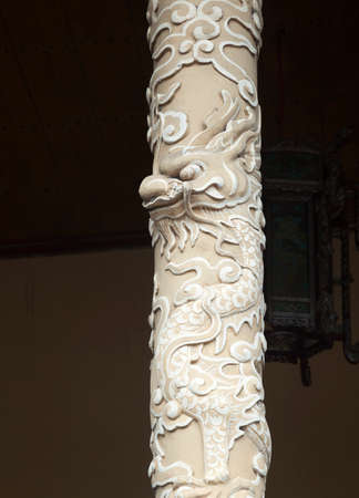 Dragon decoration in Imperial Palace in Hue, Vietnam 版權商用圖片