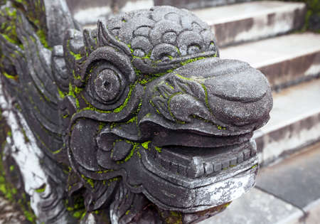Dragon-shaped handrail in Hue Imperial Palace