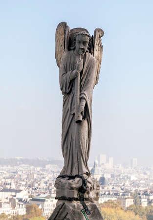 Archangel Gabriel on the roof of Notre-Dame de Paris